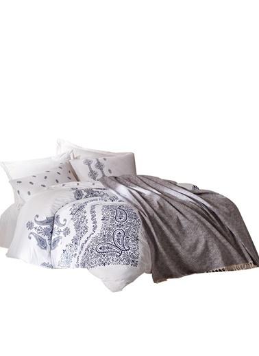 Cotton Box Ranforce Çift Kisilik Nevresim Tk+Yatak Örtüsü Adonis Indigo İndigo